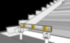 Använd vattenpass till trappbygge