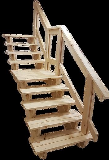 Trappa i slänt med vilplan Hur mycket kostar en trappa