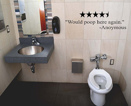 4 1/2-Star Review Restroom Edition