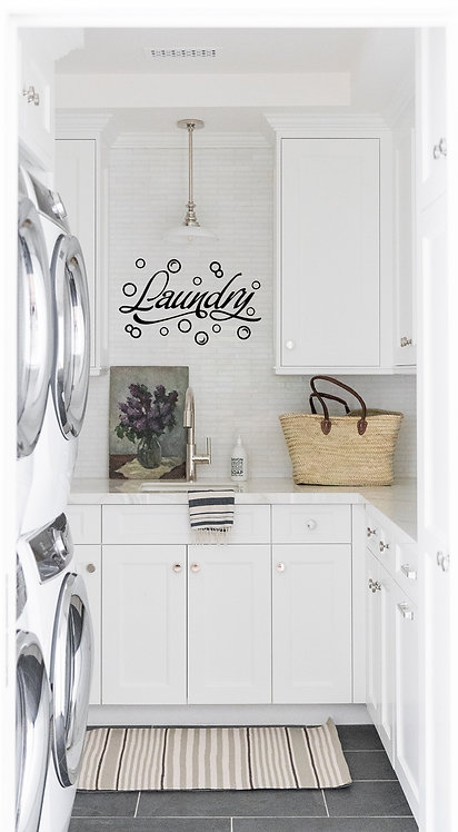 Laundry Room With Bubbles