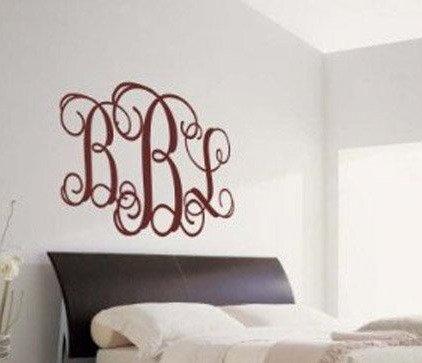 Custom Curly Monogram