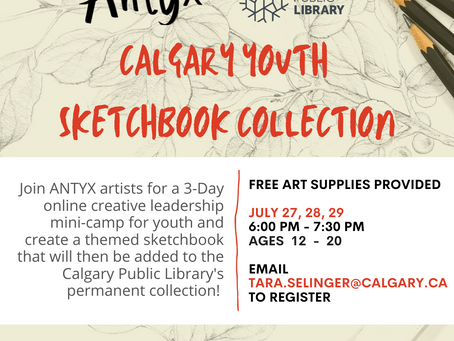 Antyx Calgary youth Sketchbook collection