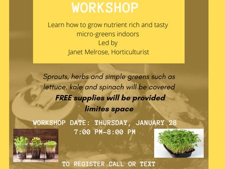 Winter Gardening Virtual Workshop