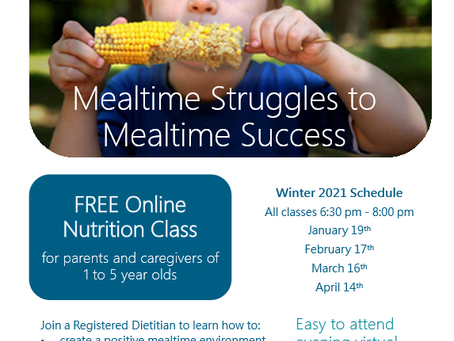 Free Online Nutrition Classes