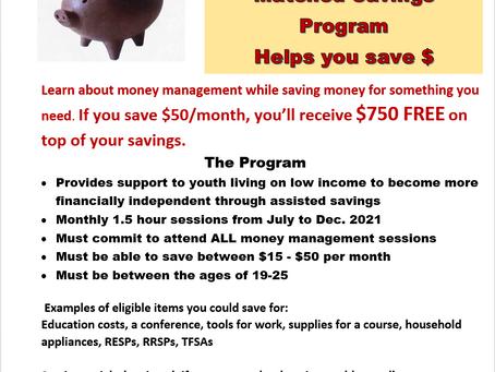Youth Matched Savings Program