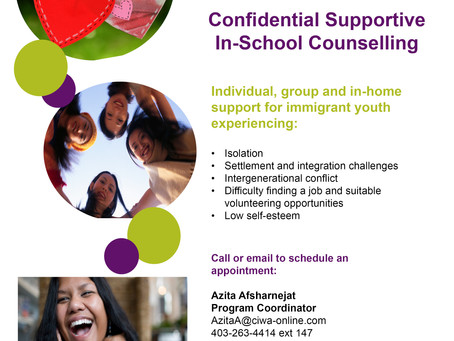 One on One counselling for immigrant youth / Girls Talk Group CIWA