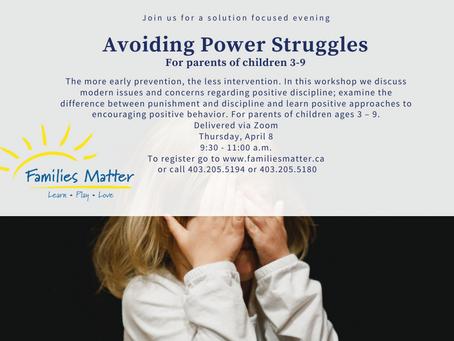 Avoiding Power Struggles
