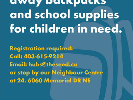 Mustard Seed Back Pack and Summer activities