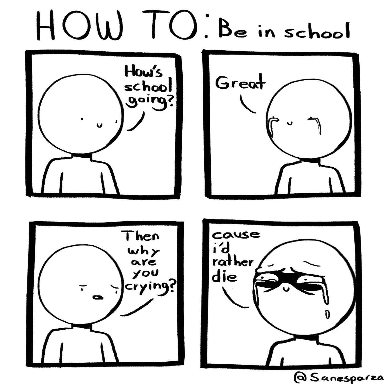 be in school