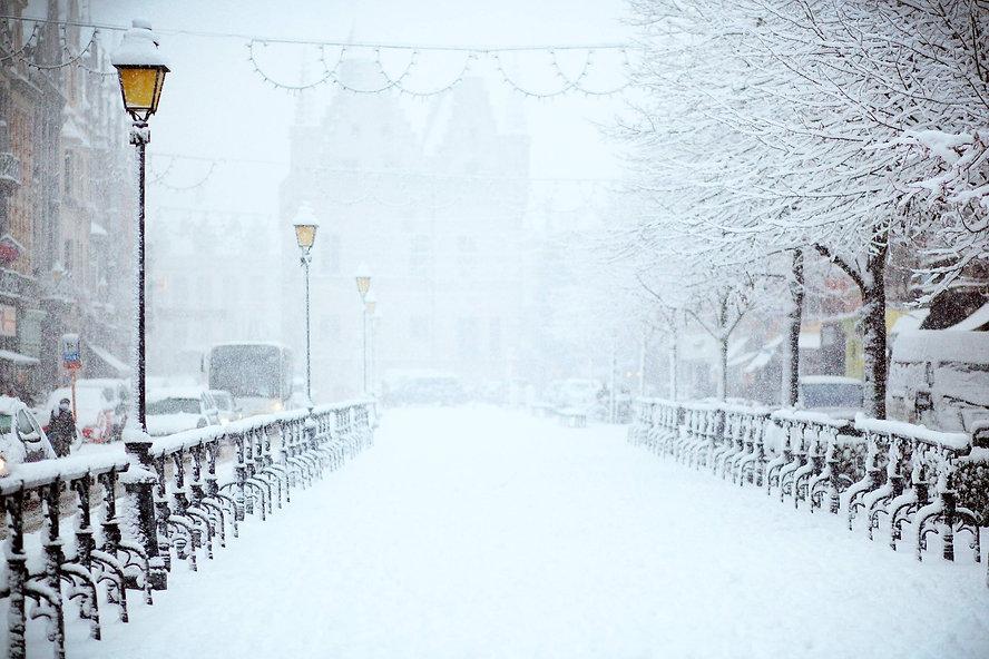 Vinter, snö och gator