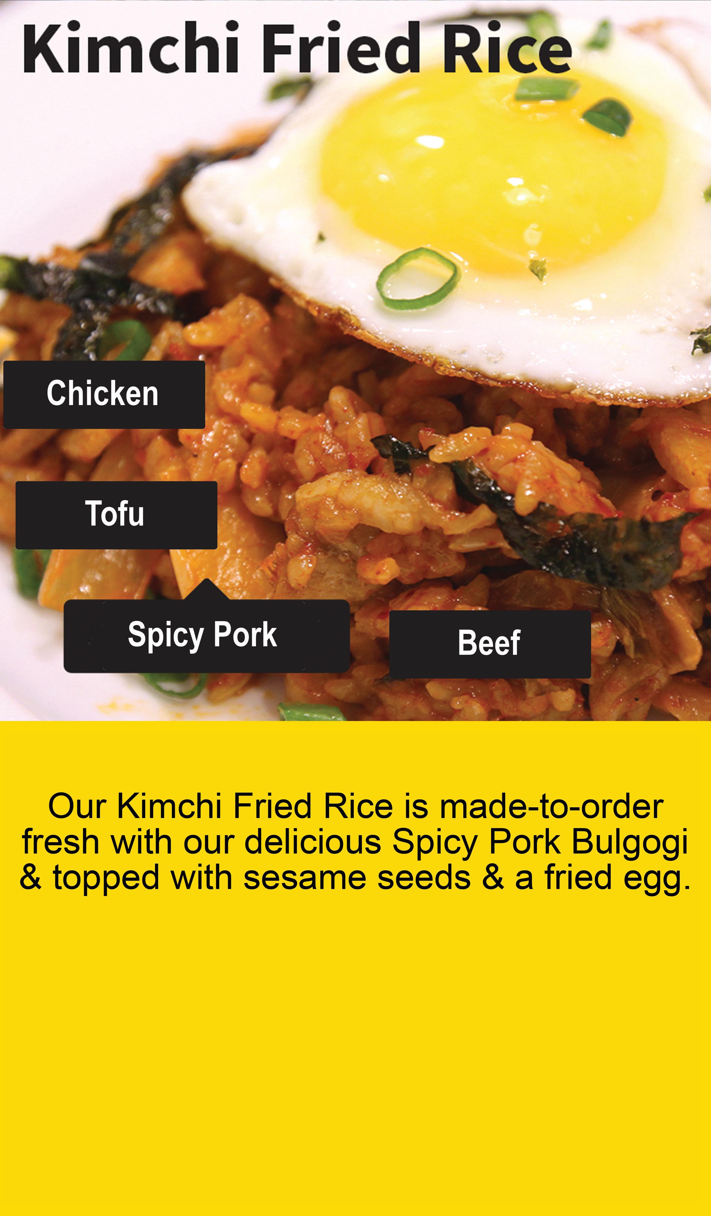 kimchi fried rice magnet