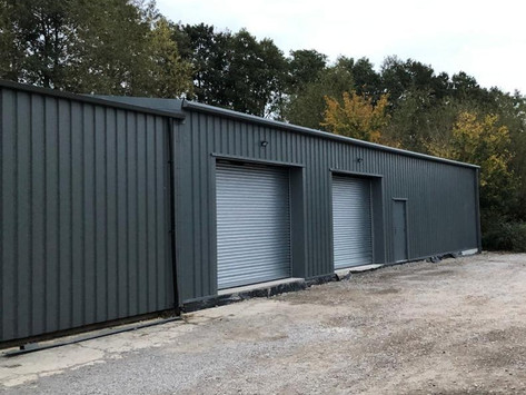 Construction of multiple units at Snow Business, Cotswolds