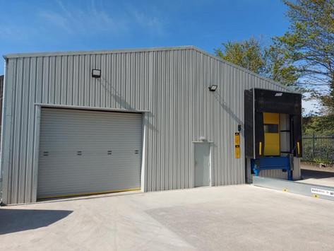 New steel framed building at Lea & Perrins, Worcester