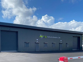 New steel frame storage and office building at CL Refurbishments, Wolverhampton
