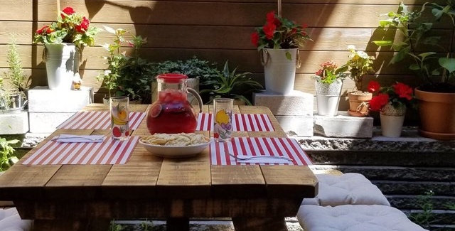 Table pic-nic fini rustique