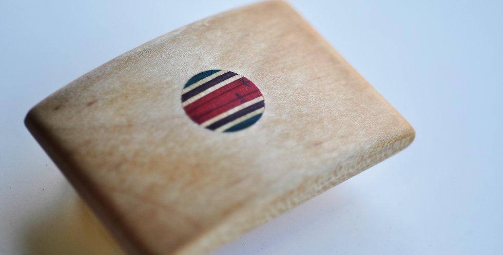 Petite boucle de ceinture en bois & skateboard