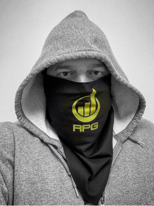 Black Bandana Face Mask - RPG Iconic Green