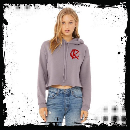 "Revolt ""R"" Storm Cropped Hoodie"