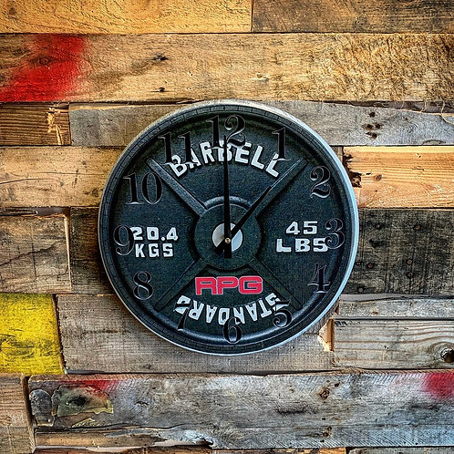 RPG 45lb Plate Wooden Clock