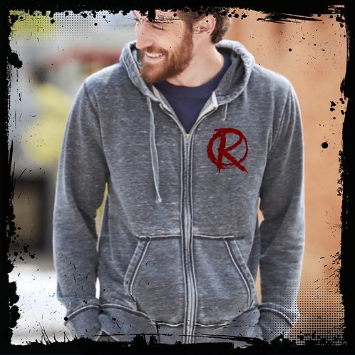 """Revolt """"R"""" Dark Smoke Zip-Up"""