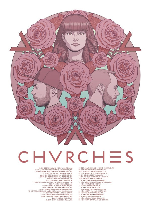 CHVRCHES 2015 Tour Poster
