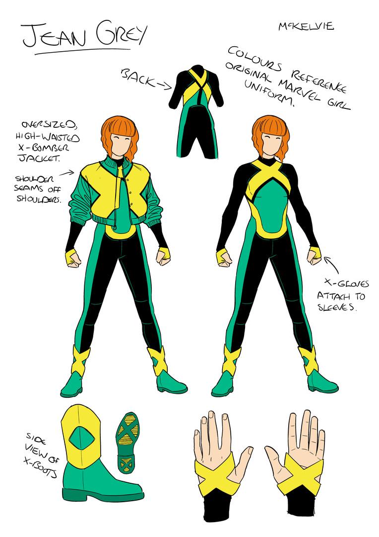 Jean Grey Character Design