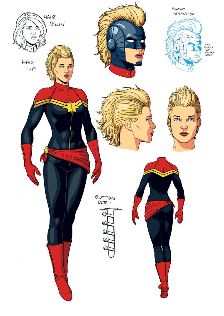 Captain Marvel Character Design