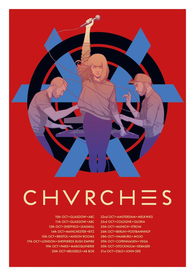CHVRCHES Tour Poster