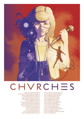 CHVRCHES 2014 Tour Poster