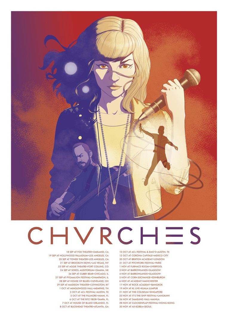CHVRCHES 2014 Tour Poster