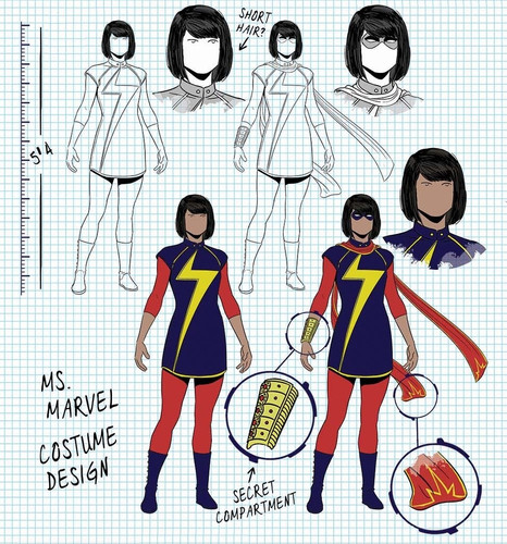 Ms Marvel Character Design