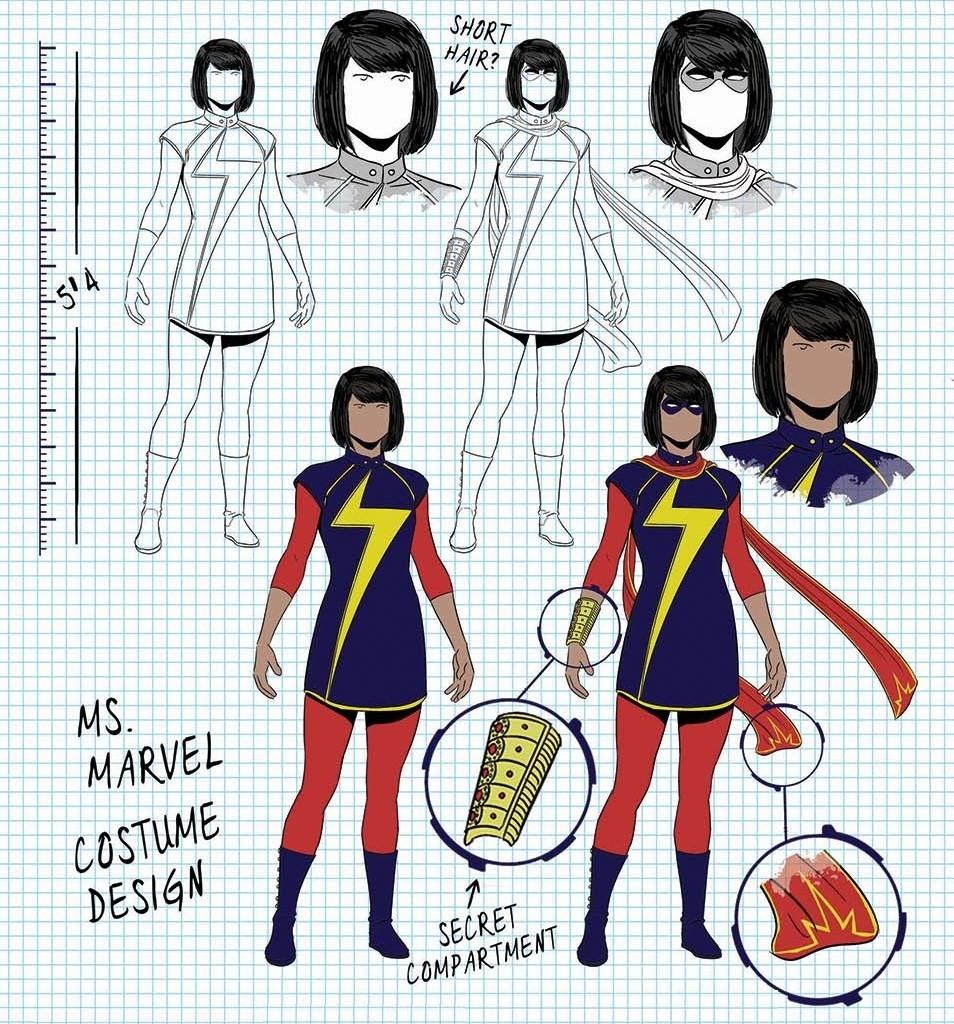 Ms Marvel Character Design