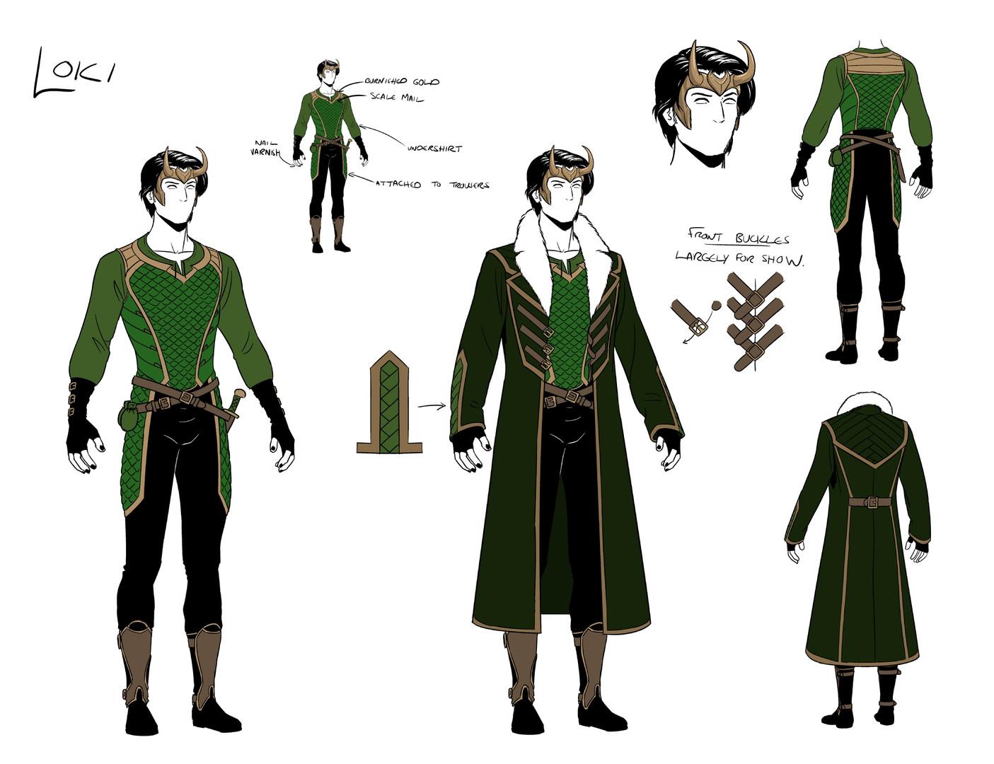 Loki Character Design sheet