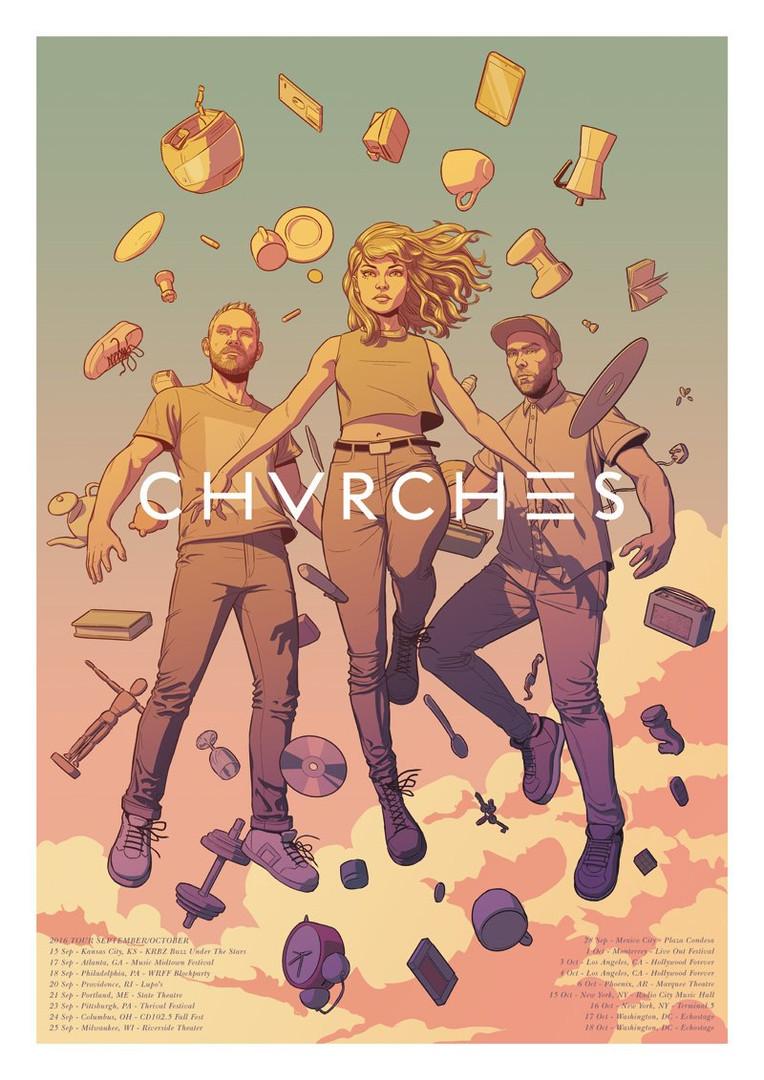 CHVRCHES 2016 Tour Poster