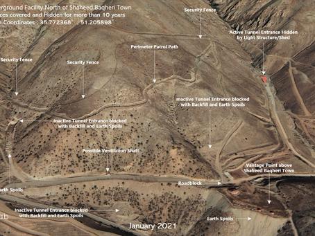 Suspected Underground Facility North of Shaheed Baqheri Town, IRAN