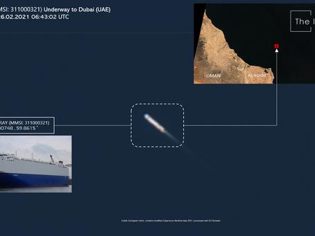 HELIOS RAY (MMSI: 311000321) Underway to Dubai (UAE)