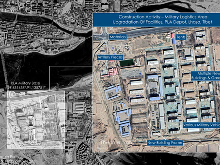 Ongoing Military Facilities Expansion And Upgradation Lhasa, Tibet