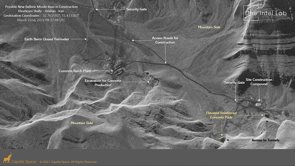 Possible Missile Base in Contruction at Khomeyni Shahr