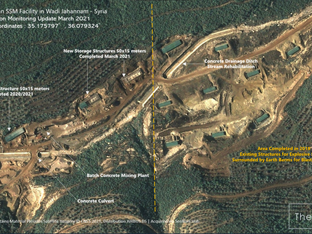 Suspected Iranian SSM Facility in Wadi Jahannam, Syria. Construction Monitoring Update March 2021