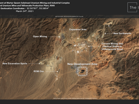Iran scaling up Uranium production and mining, Satellite Imagery shows.