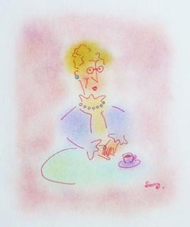 カフェの貴婦人