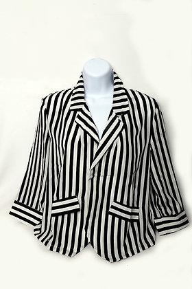 Stripe Print Blouse Jacket