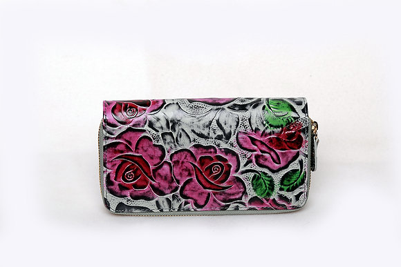 Classic Roses Leather Wallet