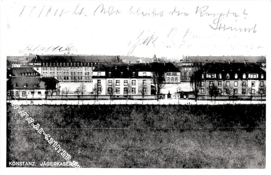 Jägerkaserne Postkarte damals