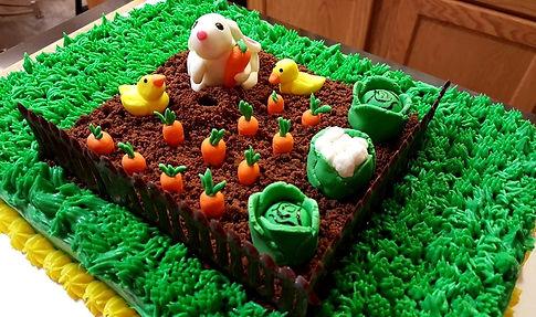 Fondant Bunny Topped Carrot Cake