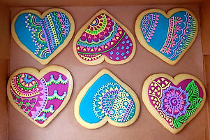 Mehndi Decorated Iced Sugar Cookies
