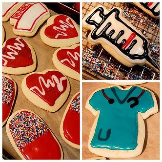 Decorated Nurse Cookies