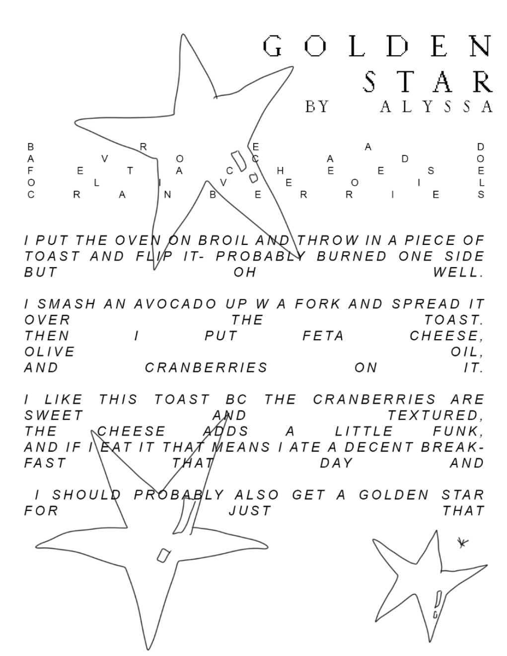 "Excerpt from ""Toast"""