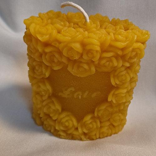 Love Mini Rose Pillar Candle