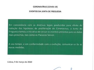 Informação à População CoronaVírus(COVID-19)